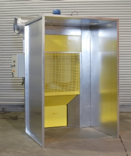 Genie Single Module Spray Booth with Extension Surround
