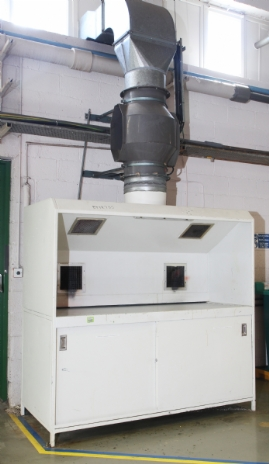 Extraction Booth with 4 x Vent Axia Extraction Points