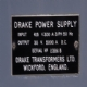 Drake 5000 amp 35 Volt Rectifier Identification Plate
