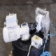 Paddle stirrer motor and diaphragm pump