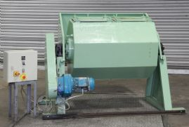 Twin Compartment Horizontal Rotary Tumbler Barrel