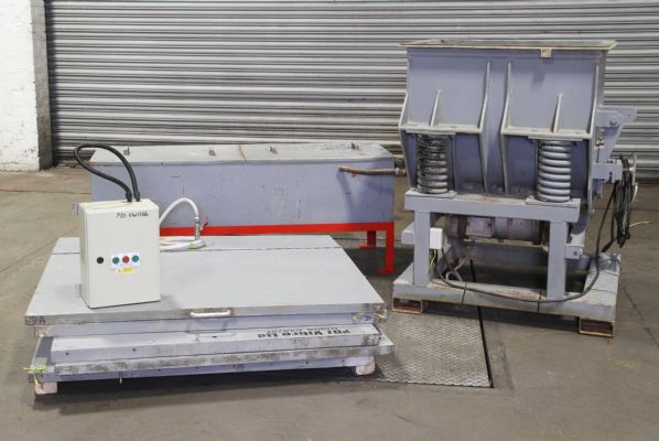 PDJ Vibratory Trough Finishing Machine.