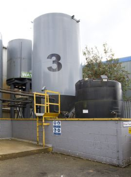 37,000 ltr Sludge Thickener Conical Bottomed Settlement Tank