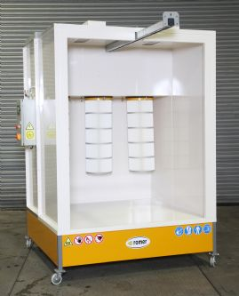 Romer Closed Face Powder Coating Booth Range