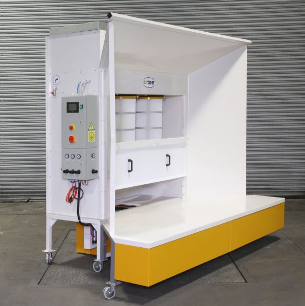 Romer Open Face Powder Coating Booth Range (KPO-3 Shown)