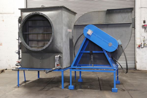 Horizontal Eliminator with Matching Centrifugal Fan
