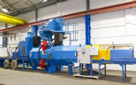 Pangborn SES Roller Conveyor, Automated, Airless Shot Blasting Line