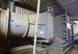 Plastic Fan Co. Limited Fume Scrubber with Horizontal Eliminator